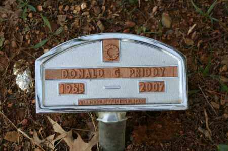 PRIDDY, DONALD G. - Polk County, Arkansas | DONALD G. PRIDDY - Arkansas Gravestone Photos