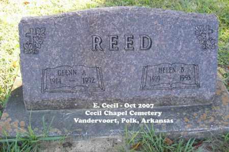REED, GLENN A. - Polk County, Arkansas | GLENN A. REED - Arkansas Gravestone Photos