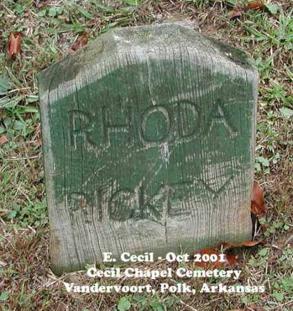CECIL RICKEY, RHODA - Polk County, Arkansas | RHODA CECIL RICKEY - Arkansas Gravestone Photos