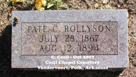 ROLLYSON, PATE C. - Polk County, Arkansas | PATE C. ROLLYSON - Arkansas Gravestone Photos