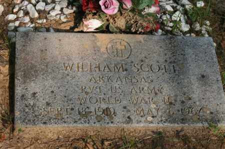SCOTT (VETERAN WWII), WILLIAM - Polk County, Arkansas | WILLIAM SCOTT (VETERAN WWII) - Arkansas Gravestone Photos