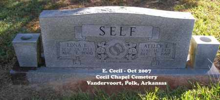 SELF, ATTLEY E. - Polk County, Arkansas | ATTLEY E. SELF - Arkansas Gravestone Photos