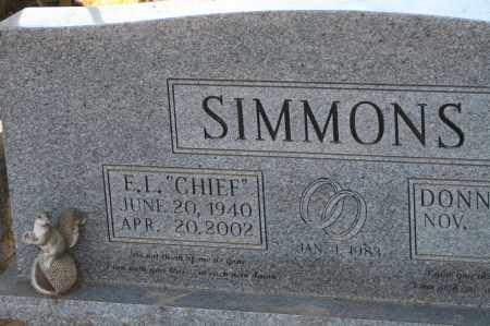 "SIMMONS, E.L. ""CHIEF"" - Polk County, Arkansas | E.L. ""CHIEF"" SIMMONS - Arkansas Gravestone Photos"