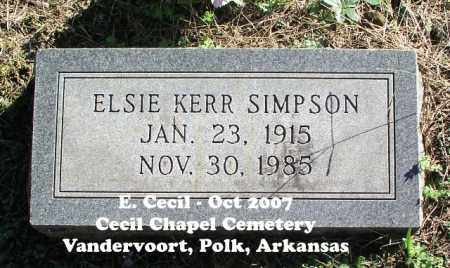 KERR SIMPSON, ELSIE - Polk County, Arkansas | ELSIE KERR SIMPSON - Arkansas Gravestone Photos