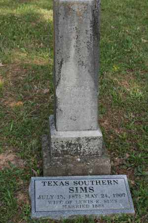 SIMS, TEXAS SOUTHERN - Polk County, Arkansas | TEXAS SOUTHERN SIMS - Arkansas Gravestone Photos