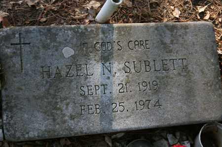 SUBLETT, HAZEL N. - Polk County, Arkansas | HAZEL N. SUBLETT - Arkansas Gravestone Photos