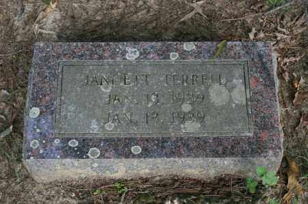 TERRELL, JANNETT - Polk County, Arkansas | JANNETT TERRELL - Arkansas Gravestone Photos