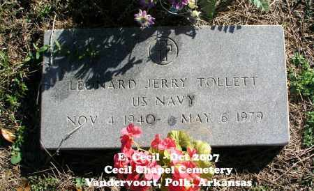 TOLLETT (VETERAN), LEONARD JERRY - Polk County, Arkansas | LEONARD JERRY TOLLETT (VETERAN) - Arkansas Gravestone Photos