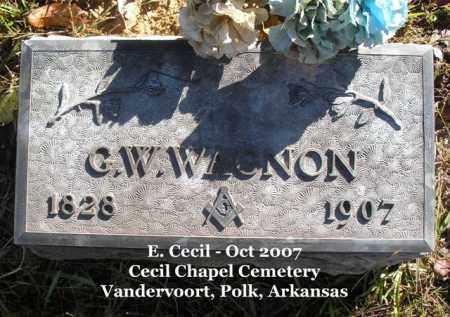 WAGNON, G. W. - Polk County, Arkansas | G. W. WAGNON - Arkansas Gravestone Photos