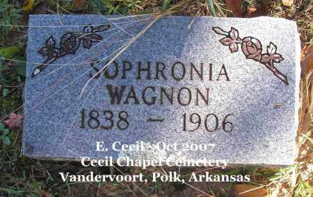 WAGNON, SOPHRONIA - Polk County, Arkansas | SOPHRONIA WAGNON - Arkansas Gravestone Photos