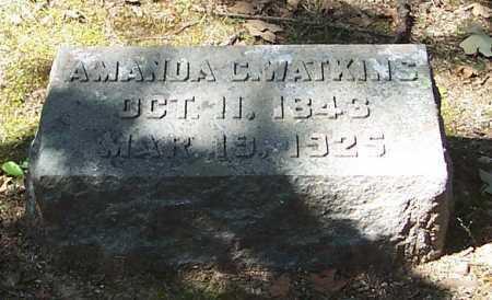 WATKINS, AMANDA C. - Polk County, Arkansas | AMANDA C. WATKINS - Arkansas Gravestone Photos
