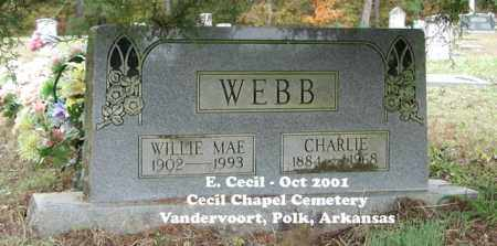STEPHENSEN WEBB, WILLIE MAE - Polk County, Arkansas | WILLIE MAE STEPHENSEN WEBB - Arkansas Gravestone Photos