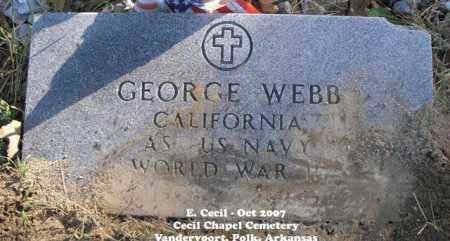 WEBB (VETERAN WWII), GEORGE - Polk County, Arkansas | GEORGE WEBB (VETERAN WWII) - Arkansas Gravestone Photos