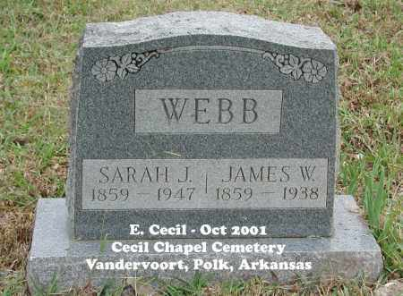 CECIL WEBB, SARAH JANE - Polk County, Arkansas | SARAH JANE CECIL WEBB - Arkansas Gravestone Photos