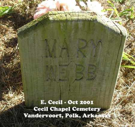 WEBB, MARY ALETHA - Polk County, Arkansas | MARY ALETHA WEBB - Arkansas Gravestone Photos