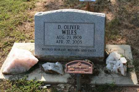 WILES, D   OLIVER - Polk County, Arkansas | D   OLIVER WILES - Arkansas Gravestone Photos