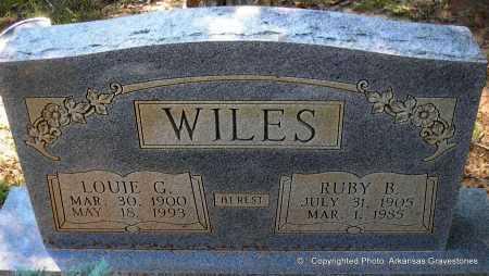 WILES, LOUIE G - Polk County, Arkansas | LOUIE G WILES - Arkansas Gravestone Photos