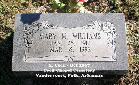 WILLIAMS, MARY M. - Polk County, Arkansas | MARY M. WILLIAMS - Arkansas Gravestone Photos