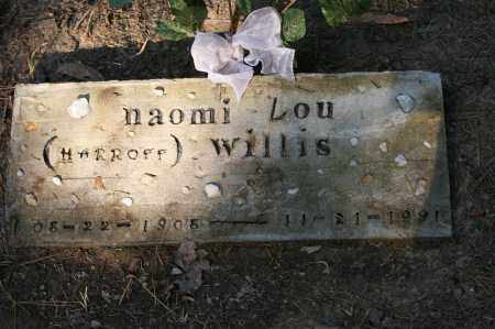 HARROFF WILLIS, NAOMI LOU - Polk County, Arkansas | NAOMI LOU HARROFF WILLIS - Arkansas Gravestone Photos