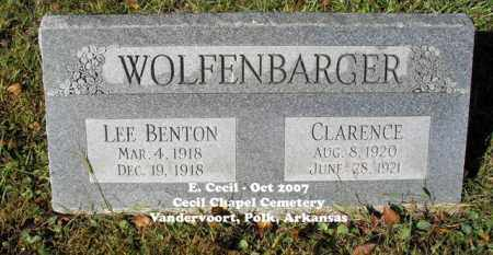 WOLFENBARGER, LEE BENTON - Polk County, Arkansas | LEE BENTON WOLFENBARGER - Arkansas Gravestone Photos