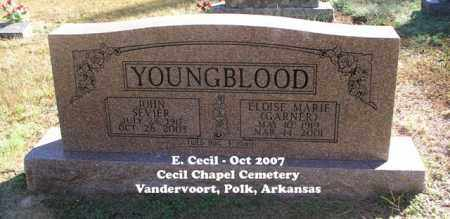 GARNER YOUNGBLOOD, ELOISE MARIE - Polk County, Arkansas | ELOISE MARIE GARNER YOUNGBLOOD - Arkansas Gravestone Photos