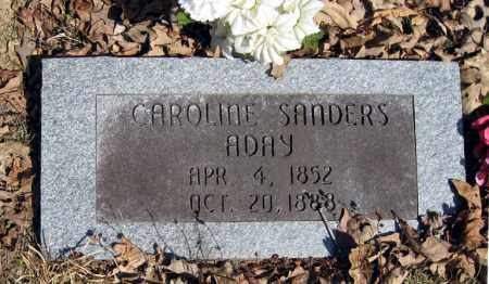 ADAY, CAROLINE - Pope County, Arkansas | CAROLINE ADAY - Arkansas Gravestone Photos
