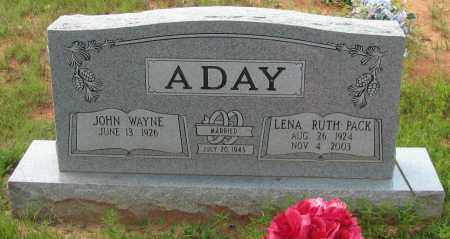 ADAY, JOHN WAYNE - Pope County, Arkansas | JOHN WAYNE ADAY - Arkansas Gravestone Photos