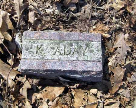 ADAY, KATHRYN - Pope County, Arkansas | KATHRYN ADAY - Arkansas Gravestone Photos