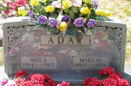 ADAY, NOLA - Pope County, Arkansas | NOLA ADAY - Arkansas Gravestone Photos