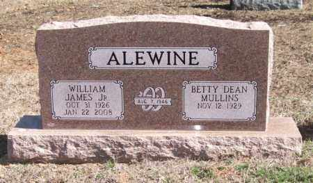 ALEWINE, JR., WILLIAM JAMES - Pope County, Arkansas | WILLIAM JAMES ALEWINE, JR. - Arkansas Gravestone Photos