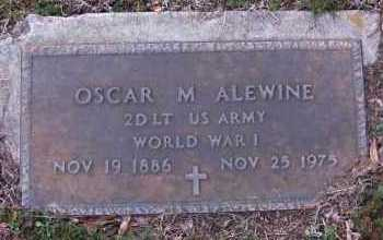 ALEWINE(VETERAN WWI), OSCAR M - Pope County, Arkansas | OSCAR M ALEWINE(VETERAN WWI) - Arkansas Gravestone Photos