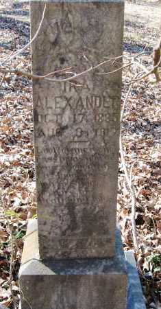 ALEXANDER, IRA - Pope County, Arkansas | IRA ALEXANDER - Arkansas Gravestone Photos