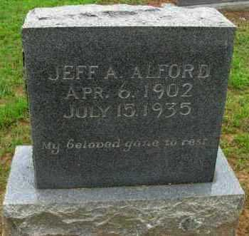 ALFORD, JEFF A. - Pope County, Arkansas | JEFF A. ALFORD - Arkansas Gravestone Photos