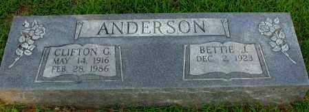 ANDERSON, CLIFTON G - Pope County, Arkansas | CLIFTON G ANDERSON - Arkansas Gravestone Photos
