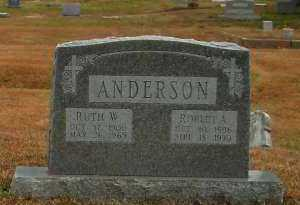 ANDERSON, RUTH W - Pope County, Arkansas | RUTH W ANDERSON - Arkansas Gravestone Photos
