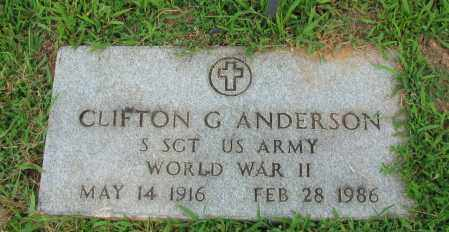 ANDERSON (VETERAN WWII), CLIFTON G - Pope County, Arkansas | CLIFTON G ANDERSON (VETERAN WWII) - Arkansas Gravestone Photos