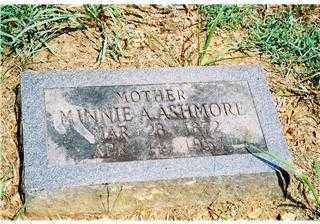 MARTIN ASHMORE, MINNIE ADA - Pope County, Arkansas | MINNIE ADA MARTIN ASHMORE - Arkansas Gravestone Photos