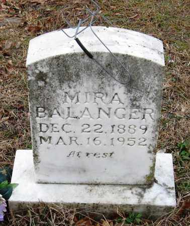 BALANGER, MIRA - Pope County, Arkansas | MIRA BALANGER - Arkansas Gravestone Photos