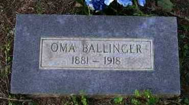 BALLINGER, OMA - Pope County, Arkansas | OMA BALLINGER - Arkansas Gravestone Photos