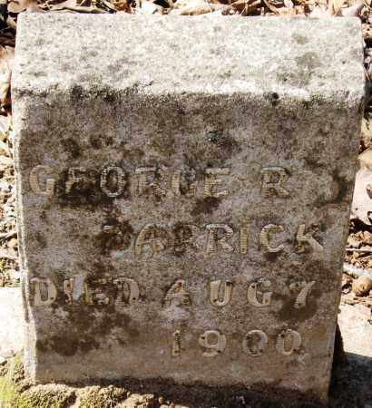 BARRICK, GEORGE R - Pope County, Arkansas | GEORGE R BARRICK - Arkansas Gravestone Photos