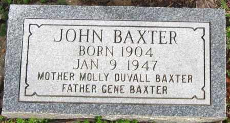 BAXTER, JOHN - Pope County, Arkansas | JOHN BAXTER - Arkansas Gravestone Photos