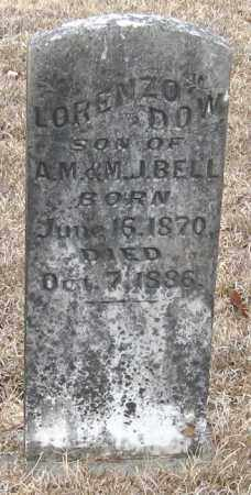 BELL, LORENZO DOW - Pope County, Arkansas | LORENZO DOW BELL - Arkansas Gravestone Photos