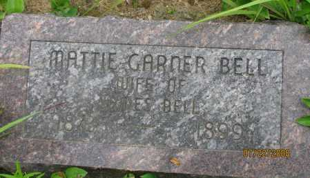 GARNER BELL, MATTIE - Pope County, Arkansas | MATTIE GARNER BELL - Arkansas Gravestone Photos
