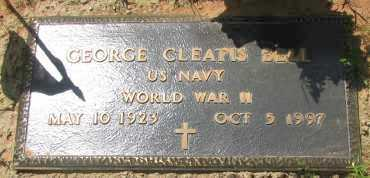 BELL (VETERAN WWII), GEORGE CLEATIS - Pope County, Arkansas | GEORGE CLEATIS BELL (VETERAN WWII) - Arkansas Gravestone Photos