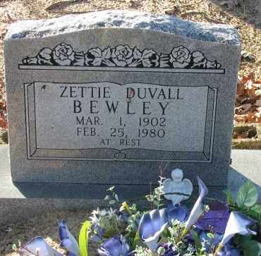 DUVALL BEWLEY, ZETTIE - Pope County, Arkansas | ZETTIE DUVALL BEWLEY - Arkansas Gravestone Photos