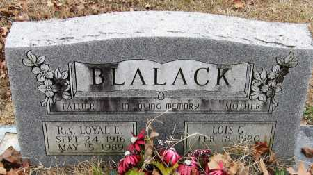 BLALACK, LOYAL L, REV - Pope County, Arkansas | LOYAL L, REV BLALACK - Arkansas Gravestone Photos