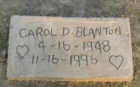 BLANTON, CAROL D - Pope County, Arkansas | CAROL D BLANTON - Arkansas Gravestone Photos