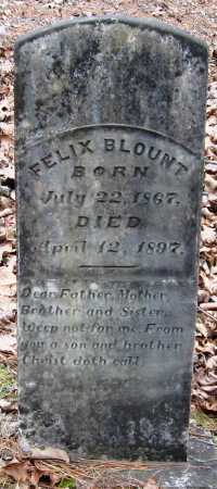 BLOUNT, FELIX - Pope County, Arkansas | FELIX BLOUNT - Arkansas Gravestone Photos
