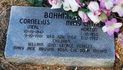 HORTON BOHANAN, MARY CATHERINE - Pope County, Arkansas | MARY CATHERINE HORTON BOHANAN - Arkansas Gravestone Photos