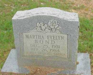BOND, MARTHA EVELYN - Pope County, Arkansas | MARTHA EVELYN BOND - Arkansas Gravestone Photos